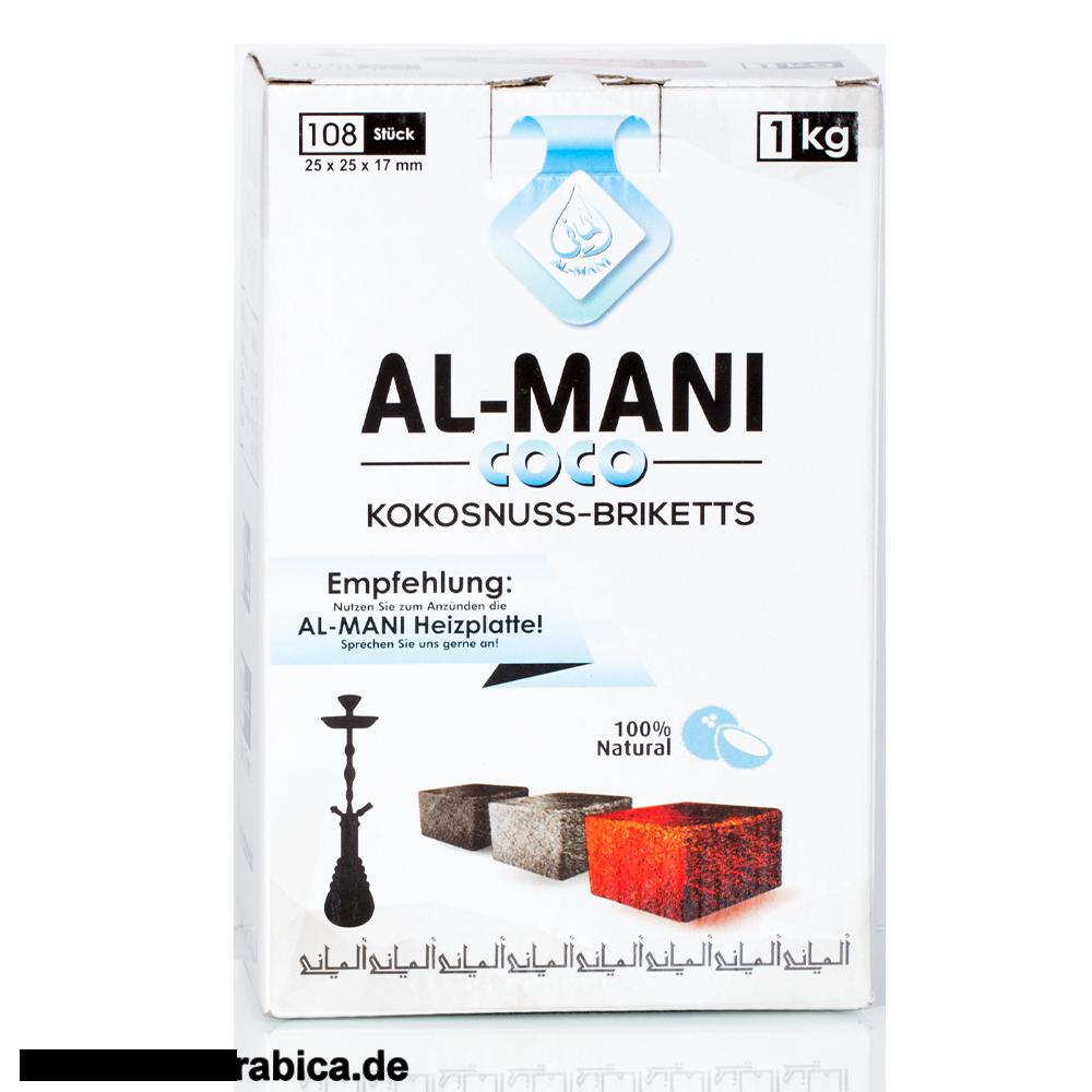 Al-Mani Coco Blau Naturkohle 1kg
