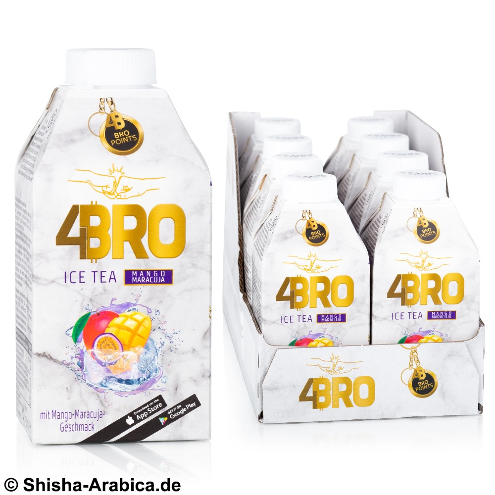 4BRO Ice Tea - Mango Maracuja - 8 x 500ml