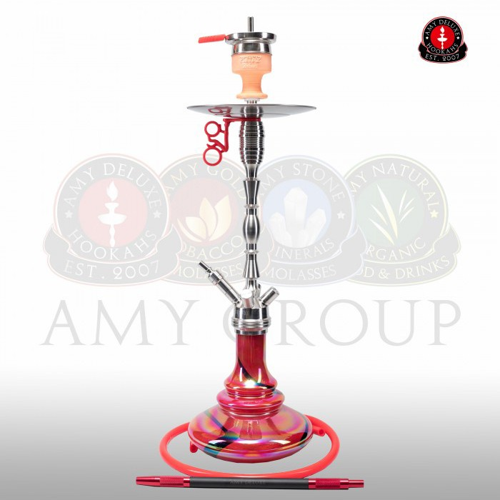 Amy SS08R Hammer Steel Rainbow Red