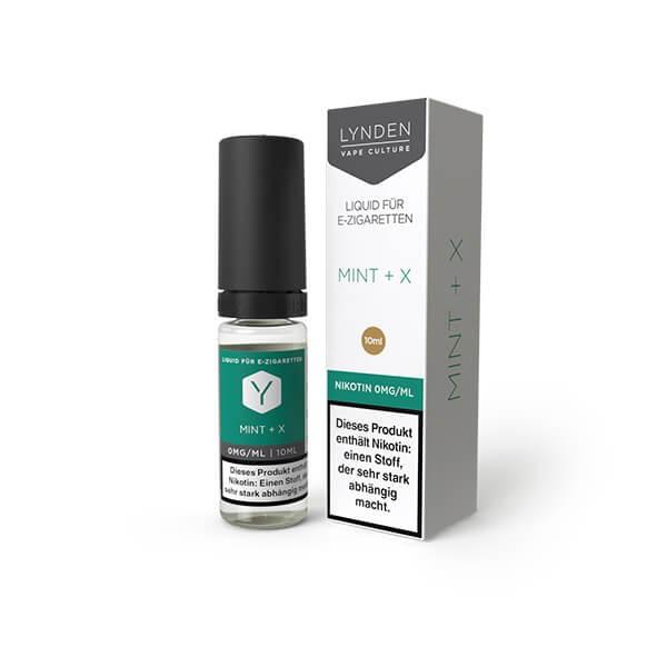 LYNDEN E-Liquid Mint + X 0MG - Ohne Nikotin
