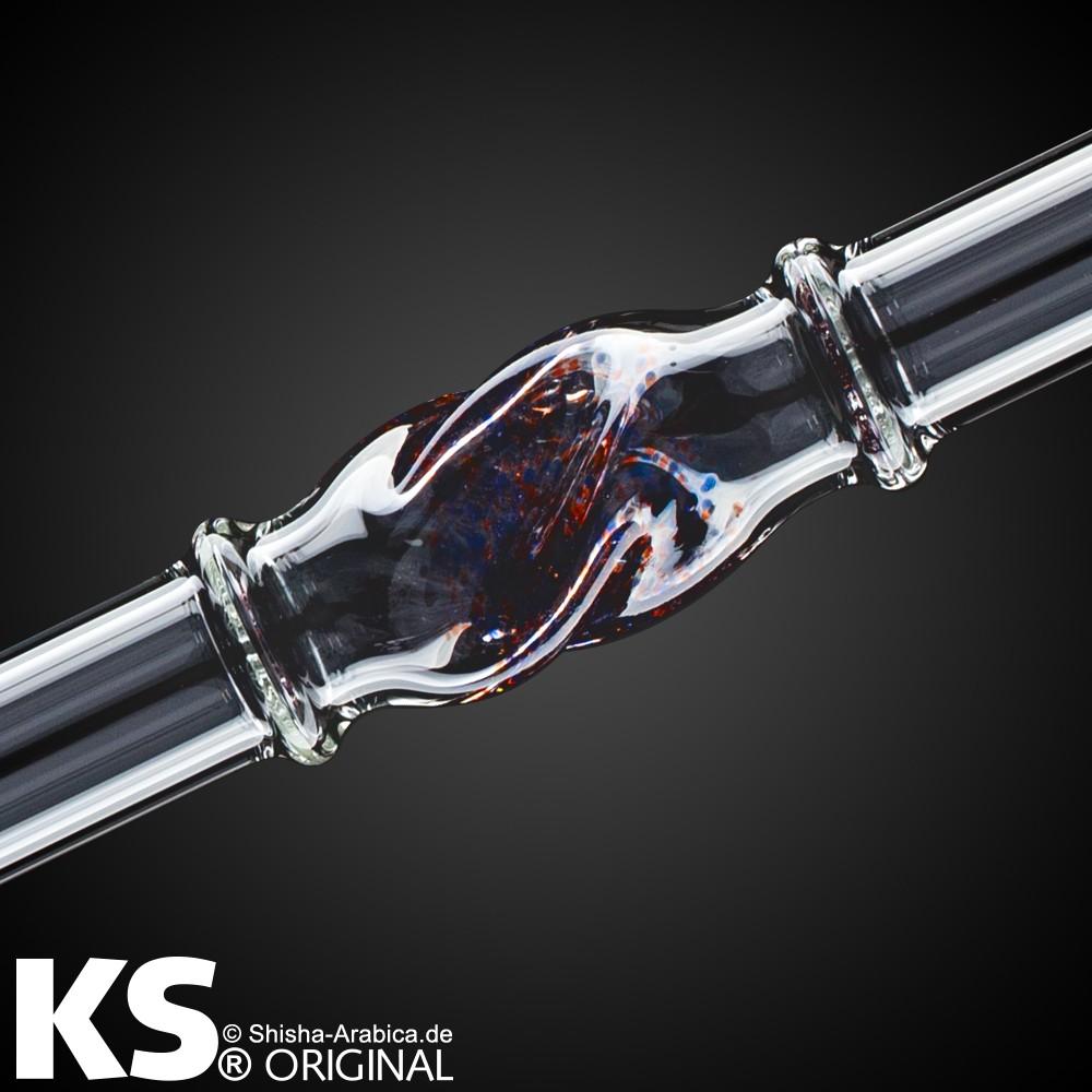 """KS Glas Liner """"Minea"""" Red-Blue-Black 35cm"""