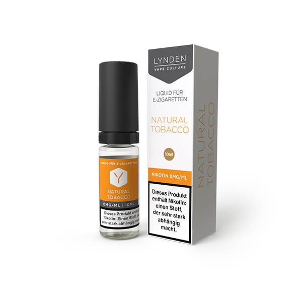 LYNDEN E-Liquid Natural Tobacco 0MG - Ohne Nikotin