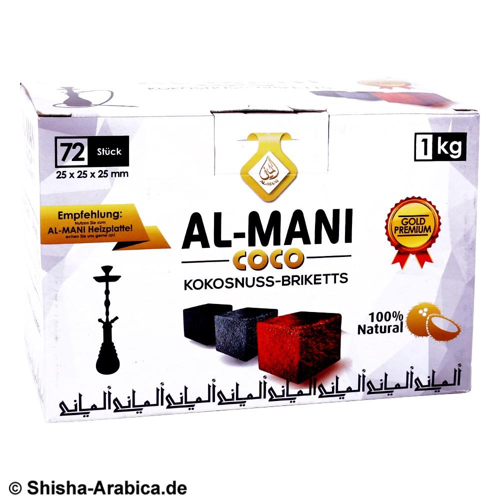 Al-Mani Coco Naturkohle 72 pcs 1kg