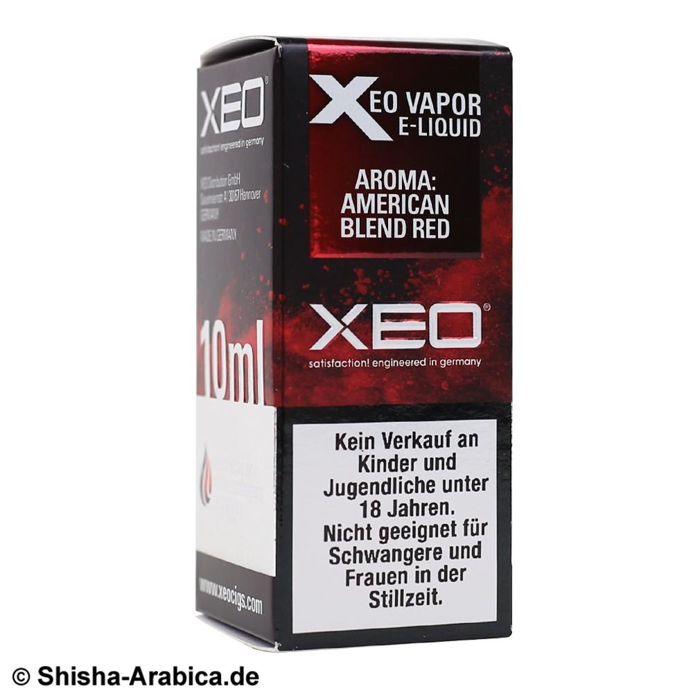 XEO E-Liquid 0mg American Blend Red