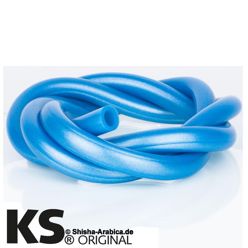 KS Silikonschlauch Metallic Neon Blau